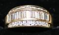 100058 DIAMOND  YELLOW GOLD RING
