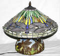 100048 ART GLASS DRAGONFLY TABLE LAMP