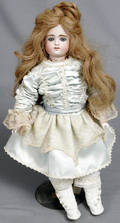 093021 FRENCH FASHION BISQUE  MUSLIN WRAPPED DOLL