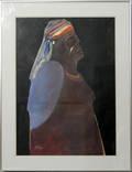 092038 RICHARD KOZLOW MIXED MEDIA INDIAN WOMAN