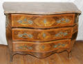 091041 MARQUETRYINLAID CHEST W MARBLE TOP