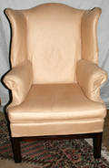 090004 CHIPPENDALE WING BACK MAHOGANY CHAIR