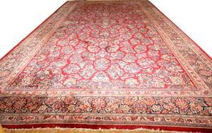 092054 SAROUK WOOL PERSIAN CARPET 28x15
