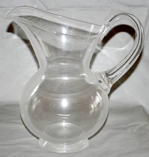 041212 STEUBEN GLASS WATER PITCHER H 9 W 85