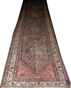 041252 HAMADAN PERSIAN ORIENTAL RUNNER 15 9x4 2