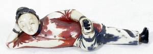 061213 CHINESE POLYCHROME IVORY FIGURAL SNUFF BOTTLE