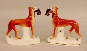 A Pair of Staffordshire Dogs