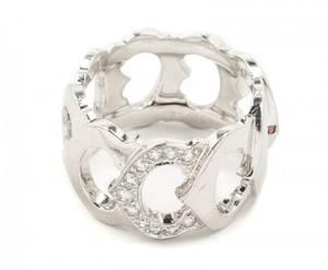 C de Cartier 18k White Gold  Diamond Ring