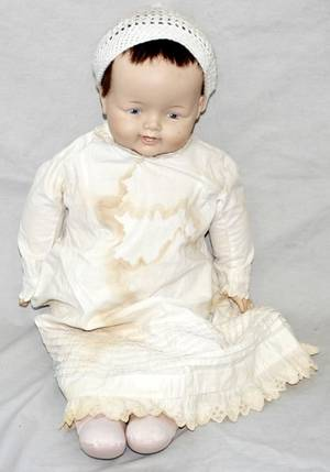 051158 MADAME ALEXANDER RUBBER  CLOTH BABY DOLL