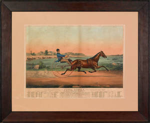 Currier  Ives color lithograph