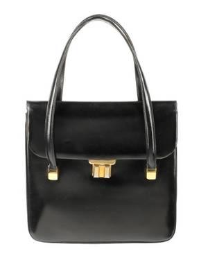 Vintage 1950s60s Black Leather Gucci Handbag