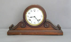 Sessions mahogany mantle clock together with a Gilbert mantle clock