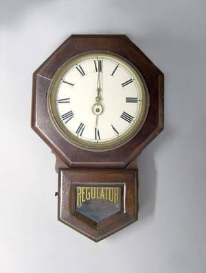 Two Seth Thomas regulator clocks