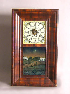 Connecticut Empire mahogany mantle clock by JC Brown