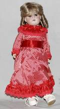 021286 ELL ST GERMAN BISQUE  COMPOSITION GIRL DOLL