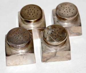061332 GEORG JENSEN STERLING SALT  PEPPER SHAKERS