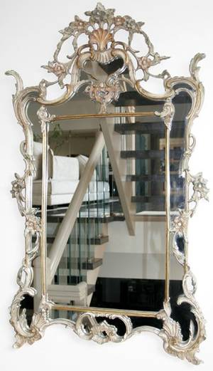 052230 FRENCH STYLE WALL MIRROR 42x25