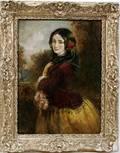 022191 THOMAS K PELHAM OIL ON CANVAS YOUNG LADY