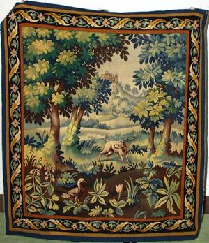 022159 AUBUSSON STYLE WOVEN WOOL TAPESTRY 65x565