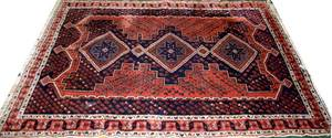 060240 HAND WOVEN PERSIAN WOOL RUG 4 11x6 9