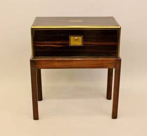 19th C English Wooden Traveling Writing Desk