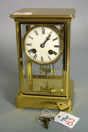 French Marti et Cie crystal regulator clock dated 1896