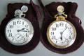 Two Elgin Father Time 21jewel open face pocket watches