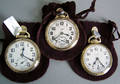 Three Elgin gold 21jewel pocket watches