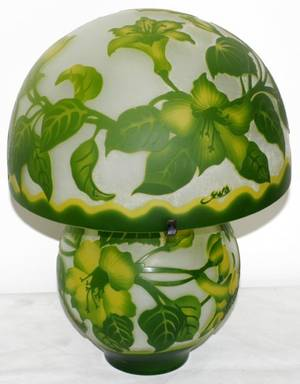 042331 GALLE STYLE CAMEO GLASS LAMP H 16