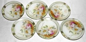 041531 GERMAN HAND PAINTED PORCELAIN PLATES