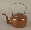American miniature copper kettle 19th c