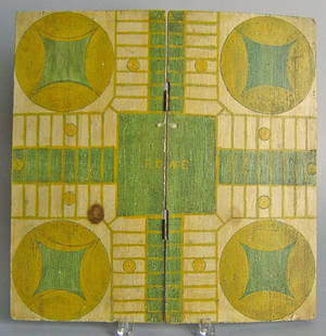 Painted folding parchesi board