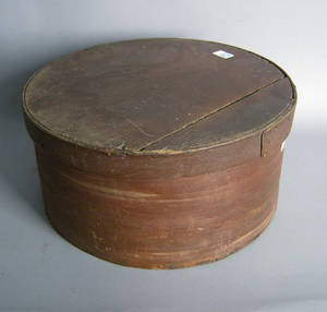 Red stained bentwood box