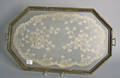 Painted tray with lacework