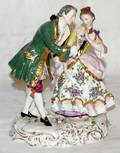 042391 DRESDEN PORCELAIN COURTING COUPLE H 85