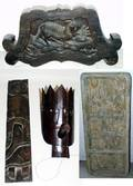 020478 MASK  PLAQUE GROUPING 20 TH C 4 PCS