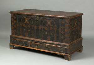Berks County Pennsylvania painted pine dower chest late 18th c
