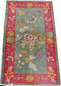 022400 CHINESE GREEN  ROSE ORIENTAL RUG 48x29