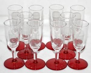 070483 LIBBEY GLASS LIQUORS SET OF 10 H 36