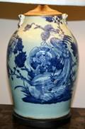 060518 CHINESE CELADON PORCELAIN URN AS LAMP