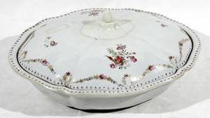 060513 CHINESE EXPORT PORCELAIN TUREEN RESTORED