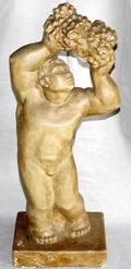 042476 EUROPEAN TINTED PLASTER CAST OF BACCHANTE