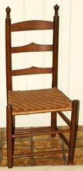 041677 AMERICAN HICKORY  PINE LADDER BACK SIDE CHAIR
