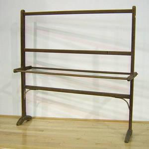Pine quilt rack 19th c