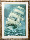 061649 AFTER PARKHURST PRINT ON CANVAS CLIPPER SHIP