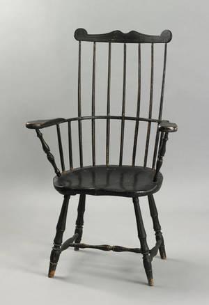 Connecticut comb back windsor armchair ca 1790