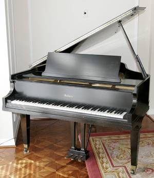 062028 BALDWIN BABY GRAND PIANO BLACK EBONY B76323
