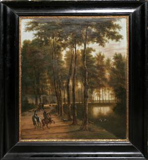 052040 A VELDE  J HACKAERT DUTCH OIL ON CANVAS