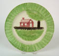 Green spatter plate