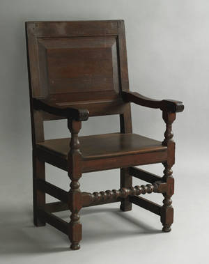 Pennsylvania walnut wainscot armchair ca 1725